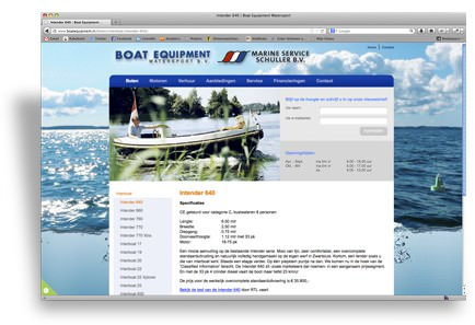 website design boat equipment