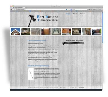 Bert Rutjens Timmerwerken website